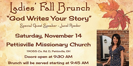 God Writes Your Story - A Ladies' Fall Brunch tickets