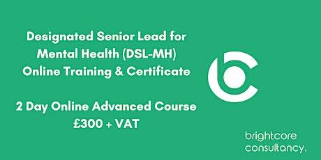 Designated Senior Lead for Mental Health (DSL-MH) Training & Certificate tickets