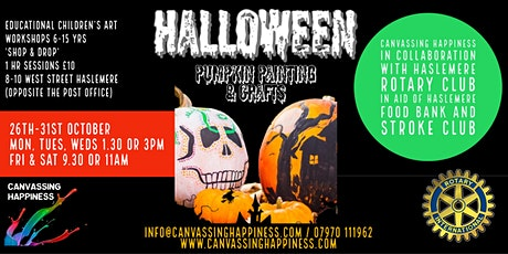 Canvassing Happiness Halloween Children's Art workshops tickets