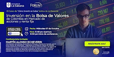 Inversión en la bolsa de valores de Colombia en el mercado de acciones ... tickets