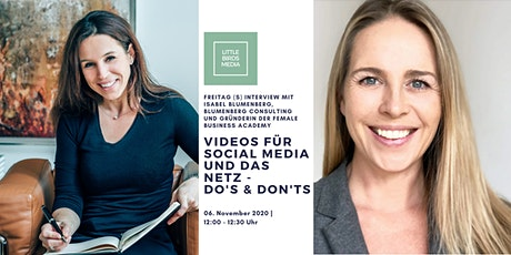Videos für Social Media und das Netz - Do's and Don'ts Tickets