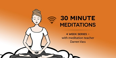 30-minute meditations , Stress is optional - 4 week course in October tickets