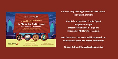 Clare Housing's A Place to Call Home: A Drive-in Annual Fundraiser tickets