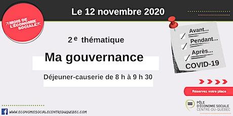 Ma gouvernance - Mois de l'économie sociale 2020 billets