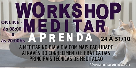 Workshop Aprenda a Meditar ingressos