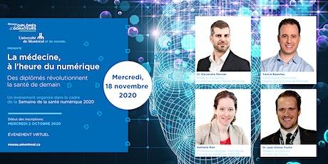 SANTÉ NUMÉRIQUE 2020 | La médecine à l'heure du numérique billets