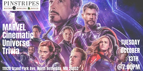 Marvel Cinematic Universe Trivia at Pinstripes North Bethesda tickets