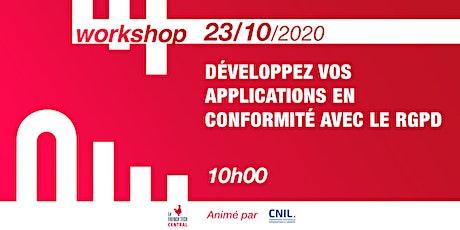 [Workshop] Développez vos applications en conformité avec le RGPD @CNIL billets