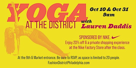 District Yoga tickets