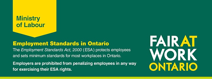 Employment Standards Act Training - Morning Session image