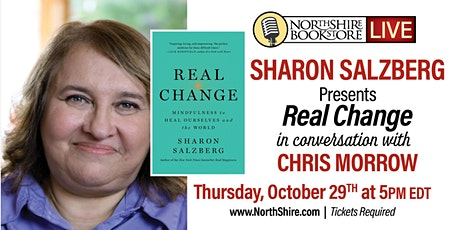 "Northshire Live: Sharon Salzberg ""Real Change"" tickets"