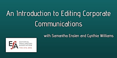 An Introduction to Editing Corporate Communications tickets