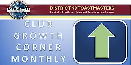 Club Growth Corner Monthly - Oct 2020 tickets