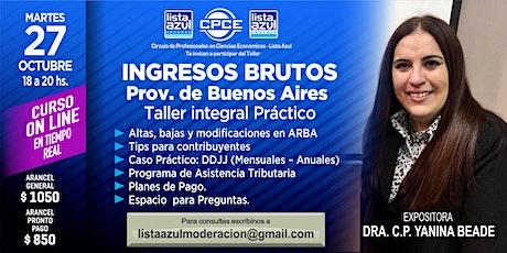 """""""INGRESOS BRUTOS Provincia de Buenos Aires.  Taller integral Práctico"""" entradas"""