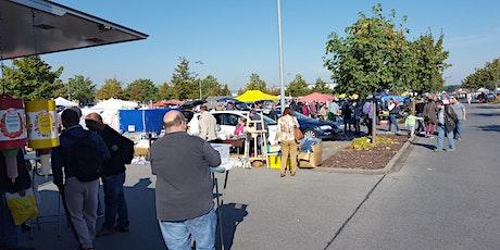 Flohmarkt auf dem Parkplatz REWE in Merkendorf  (Regeln links beachten)