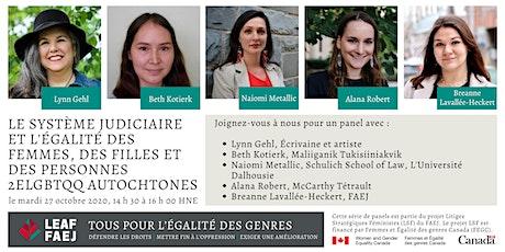 L'égalité des femmes, des filles et des personnes 2ELGBTQQ autochtones tickets