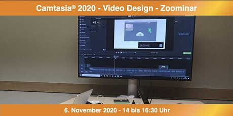 Camtasia 2020 - Video Design - Zoominar Tickets