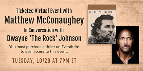 B&N Virtually Presents: A Night with Matthew McConaughey for GREENLIGHTS! tickets