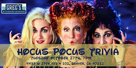 Hocus Pocus Trivia at Greg's Kitchen & Taphouse tickets