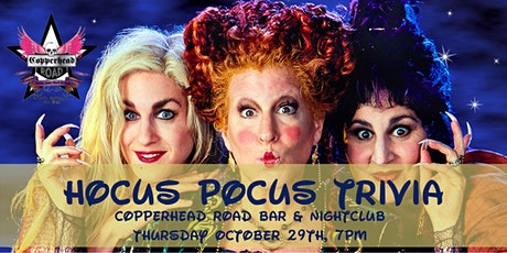 Hocus Pocus Trivia at Copperhead Road Bar &  Nightclub tickets
