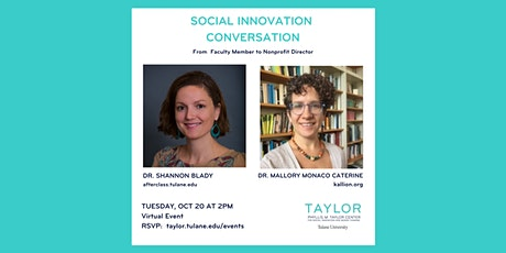 Social Innovation Conversation: From  Faculty Member to Nonprofit Director tickets
