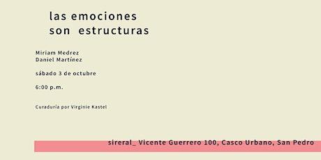 las emociones son estructuras / Miriam Medrez & Daniel Martínez / Sideral boletos