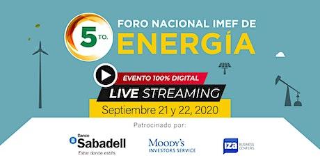 5to. Foro Nacional IMEF de Energía | Público General boletos