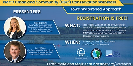 NACD U&C Conservation Webinar Series: Iowa Watershed Approach tickets