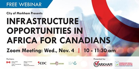 Infrastructure Opportunities in Africa for Canadians tickets