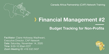 Financial Management #2: Budget Tracking for Non-Profits tickets