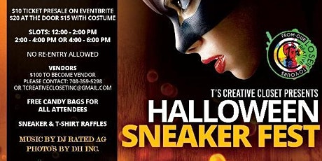T's creative closet Presents  Halloween Sneaker Fest tickets