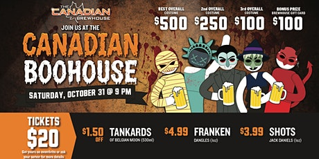 The Canadian Boohouse | Halloween Party tickets