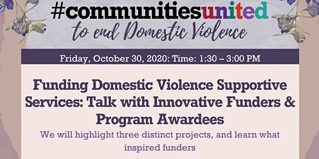 Virtual Talk: Funding Domestic Violence Supportive Services tickets