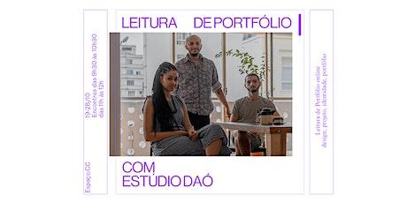 LEITURA DE PORTFÓLIO COM ESTUDIO DAÓ (23/10 - 9H30>10H30) ingressos