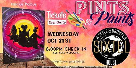 Hocus Pocus Paint Night at Sixtel Bottle And Growler tickets
