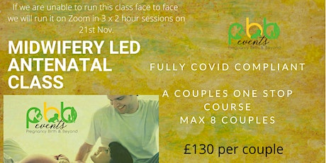 Face to face one stop Antenatal Classes for Due dates in December/Jan tickets