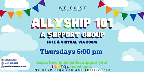 We Exist LGBTQ+ Allyship Support Group tickets