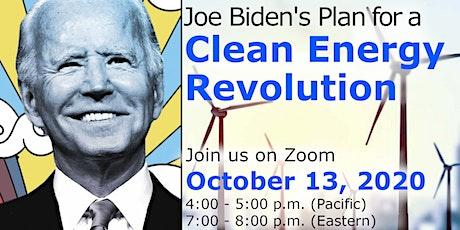 YPE presents Joe Biden's Plan for a  Clean Energy  Revolution tickets