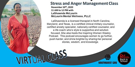Stress and Anger Management for Adults tickets
