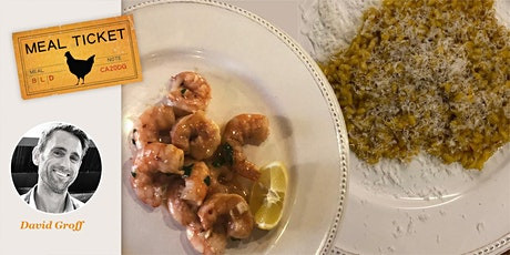 MealticketSF PRIVATE  Live Cooking Class - Risotto Milanese + Shrimp Scampi