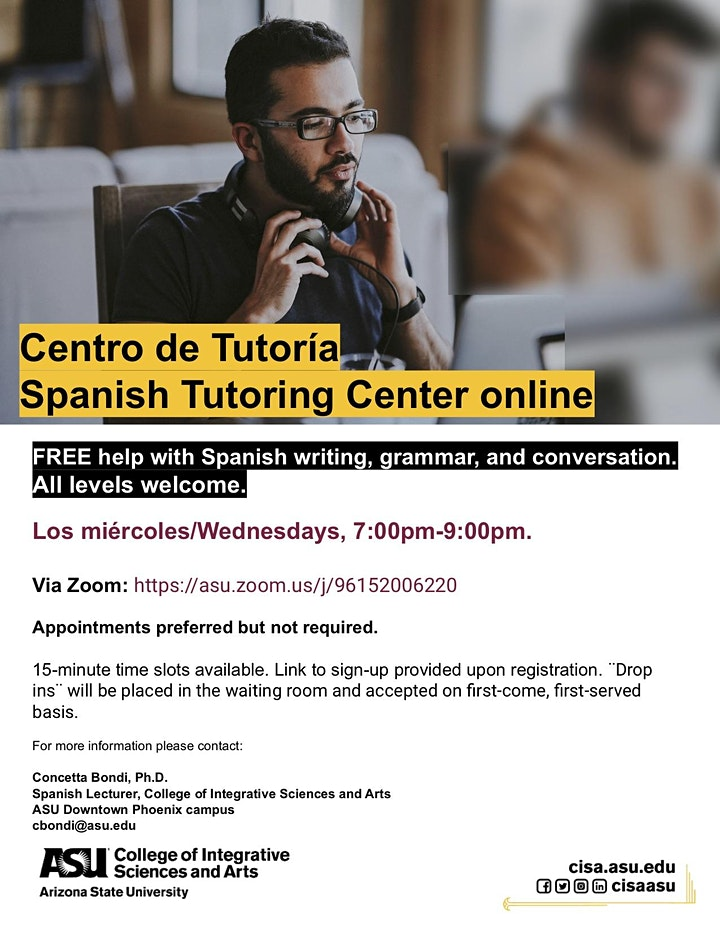 Centro de Tutoría/Spanish Tutoring Center (Online) image