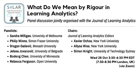 SoLAR Webinar: What Do We Mean by Rigour in Learning Analytics? tickets
