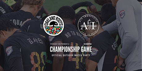 Oakland Roots Outdoor Watch Party at Ale Industries: NISA Tournament Final tickets
