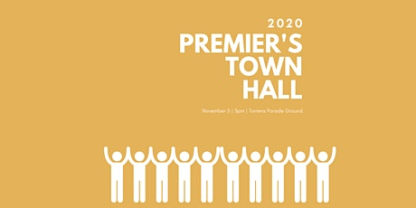 Premier's Town Hall 2020 tickets