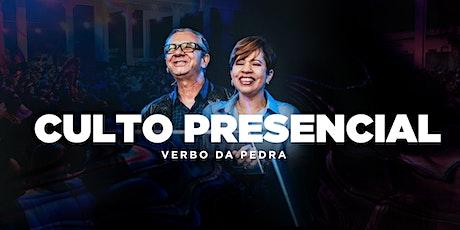 Culto PRESENCIAL Verbo da Pedra - 04/10 [19H] ingressos