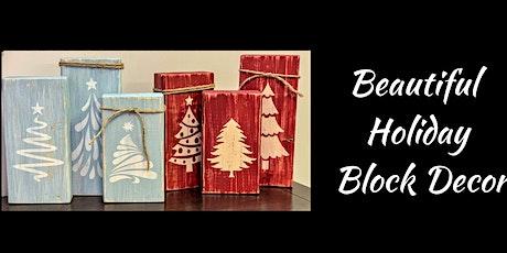 Holiday Block Decor tickets