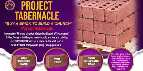 Project Tabernacle - Buy a Brick to Build a Church tickets