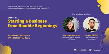 Starting a Business from Humble Beginnings  - 11Th Talks Ep.05 tickets