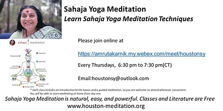 Introduction to Sahaja Yoga Meditation Technique tickets