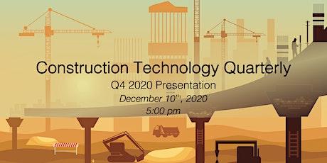 Construction Technology Quarterly: Q4 2020 Webinar tickets